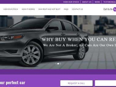 Car Rental Website in Code Igniter