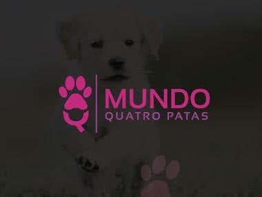 Pet news Blog Logo Design | Paws for world logo