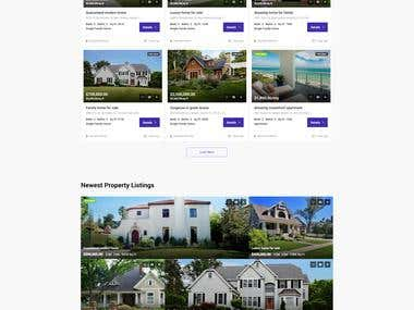 Dynamic Real Estate Website