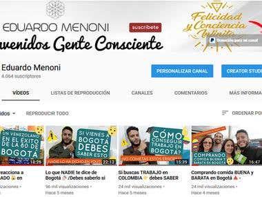 Mi canal en Youtube con más de 4000 suscriptores