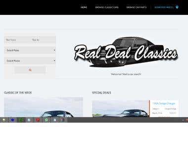Real Deal Classics - Classic American Car Listing Website