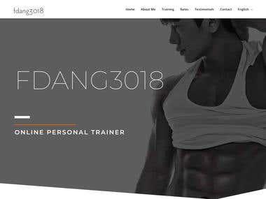 Personal Trainer Website Design multi language site WPML