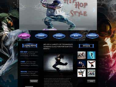 web site design for dance studio