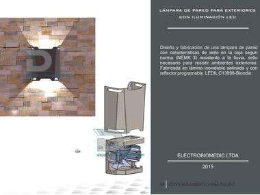 LÁMPARA DE PARED PARA EXTERIORES CON ILUMINACIÓN LED