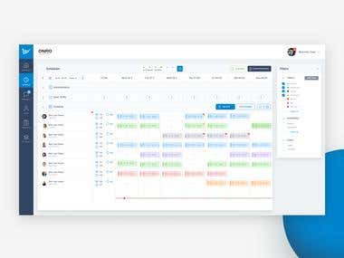 Shift Planner - Dashboard UX UI Interface