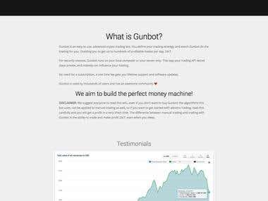 Website Design of Gunbot.io