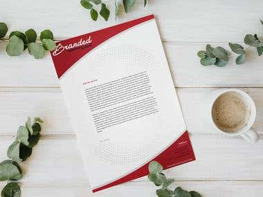 Branded Talent Letterhead