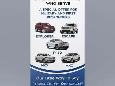 Stand Up Banner Design