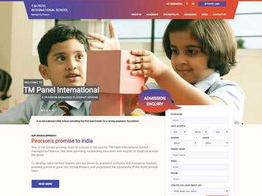 PSD-To-Html TM Panel International And Pearson Education