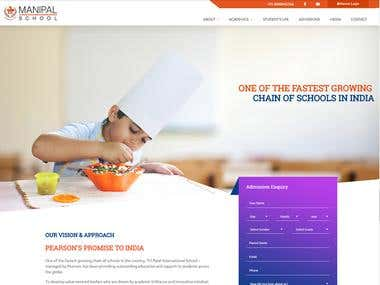 PSD-To-Html Manipal School And Pearson Education