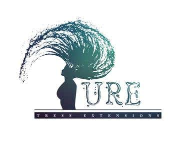 A logo for a hair extension company