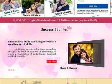 Landing Page : Dating