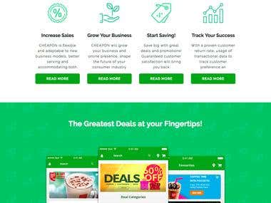 Cheapon Mobile app and Website