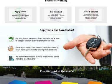 Landing Page : Car Loan