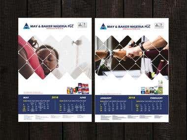 May and baker Ltd Calendar