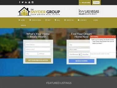 Real Estate Website For a Company