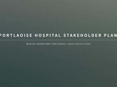 Responsive site for a Hospital's Stakeholder plan