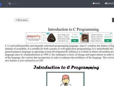 Tutorials Website Sample
