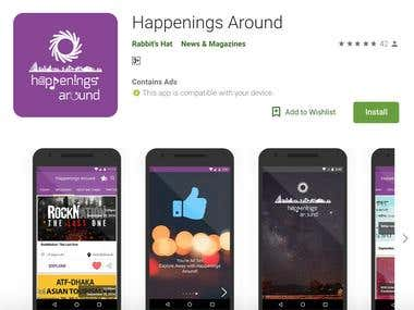 Happenings Around [ Android Application Development ]