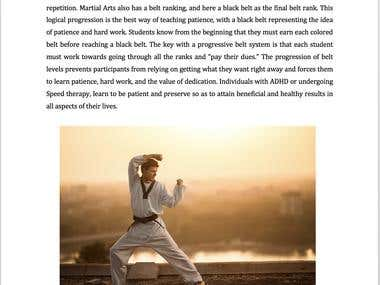 Ebook Ghostwriting- Martial Arts and its benefits