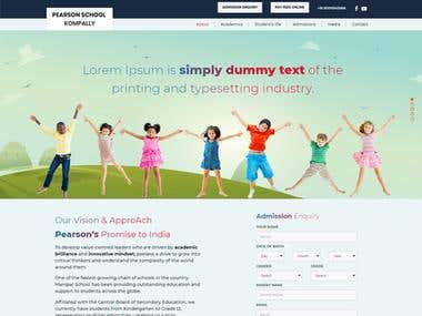 PSD-To-Html Kompally School And Pearson Education