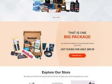 Health E commerce Site