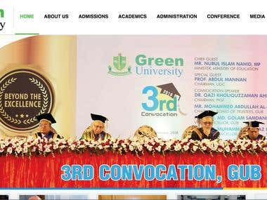 WELCOME TO GREEN UNIVERSITY OF BANGLADESH (GUB) Website.
