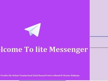 LiteMessenger [Mysql Database Based Client Server Messenger]