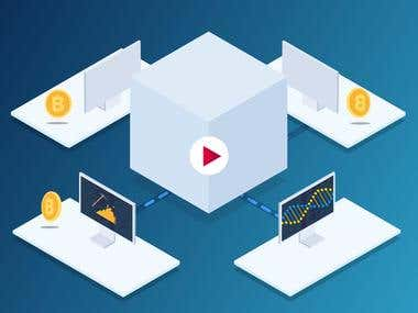 Blockchain ICO Isometric Animation