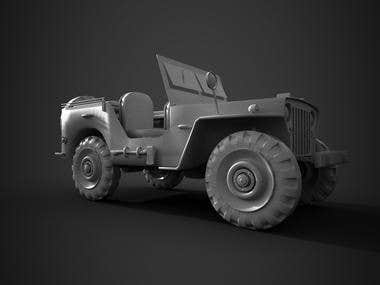 3D Jeep Model for Unity3D Games