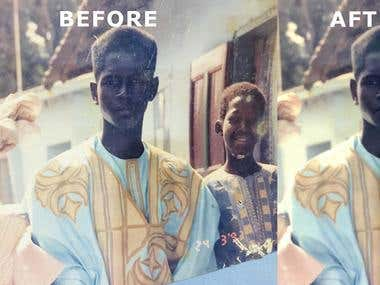 photo restore for magazine quality