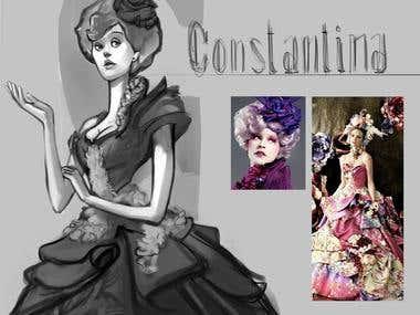 Character Constantina - Sketch