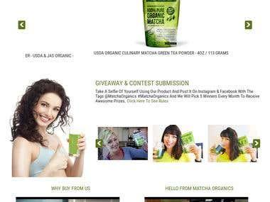 Matcha Organics - eCommerce Website