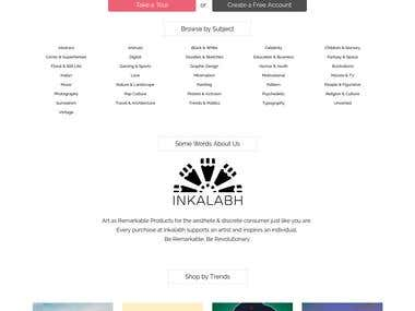 Inkalabh - Marketplace with Product Customization