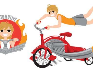 Hold On Automotive Logo & Illustration