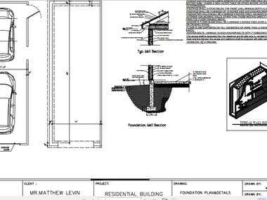 Foundation drawings for Attached garage