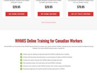 WHMIS Certification Training - Wordpress - WooCommerce