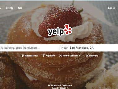 Data Scraping from yelp.com
