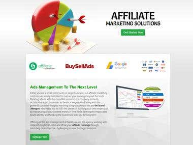 Affiliate ads management and ad serving application
