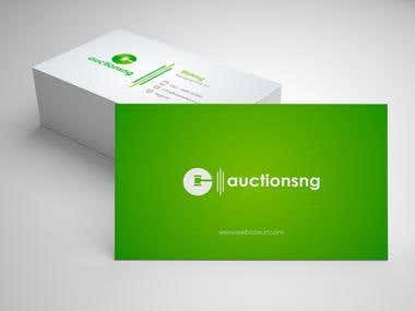 business card design for Auction site
