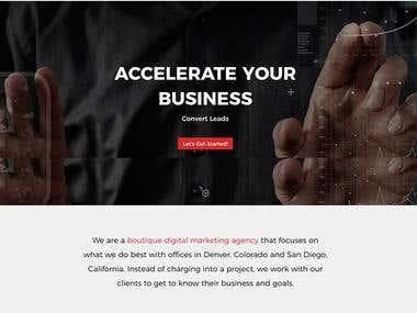 Blok Agency Wordpress Site