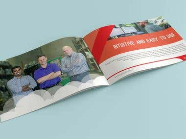 create a Brochure design for a Logistics Company.