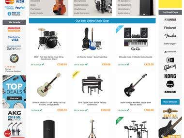 Musical Instruments Store - PHP