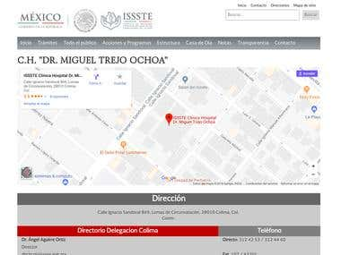 ISSSTE Colima Website