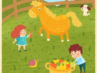 Illustration for Children Equestrian Club