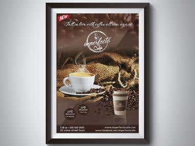 poster design for imperfecto cafe