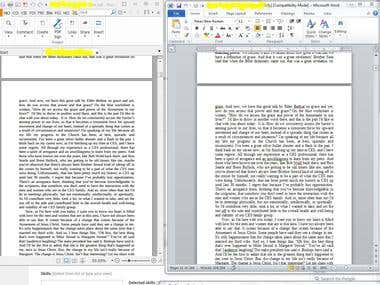 PDF to Word Document Typing