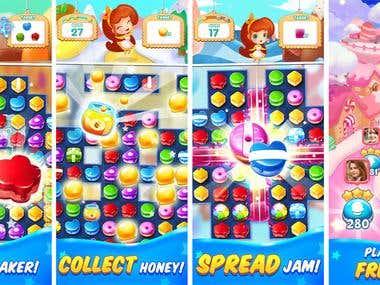 Candy Match 3 Mania: Cake Game