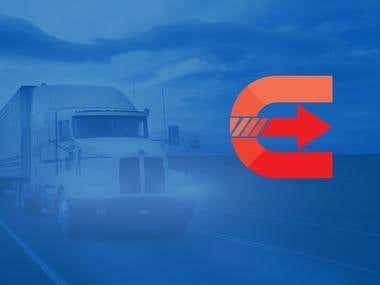 Design a Fevicon for a Logistics Company.