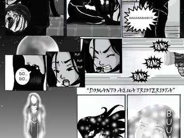 Manga page .